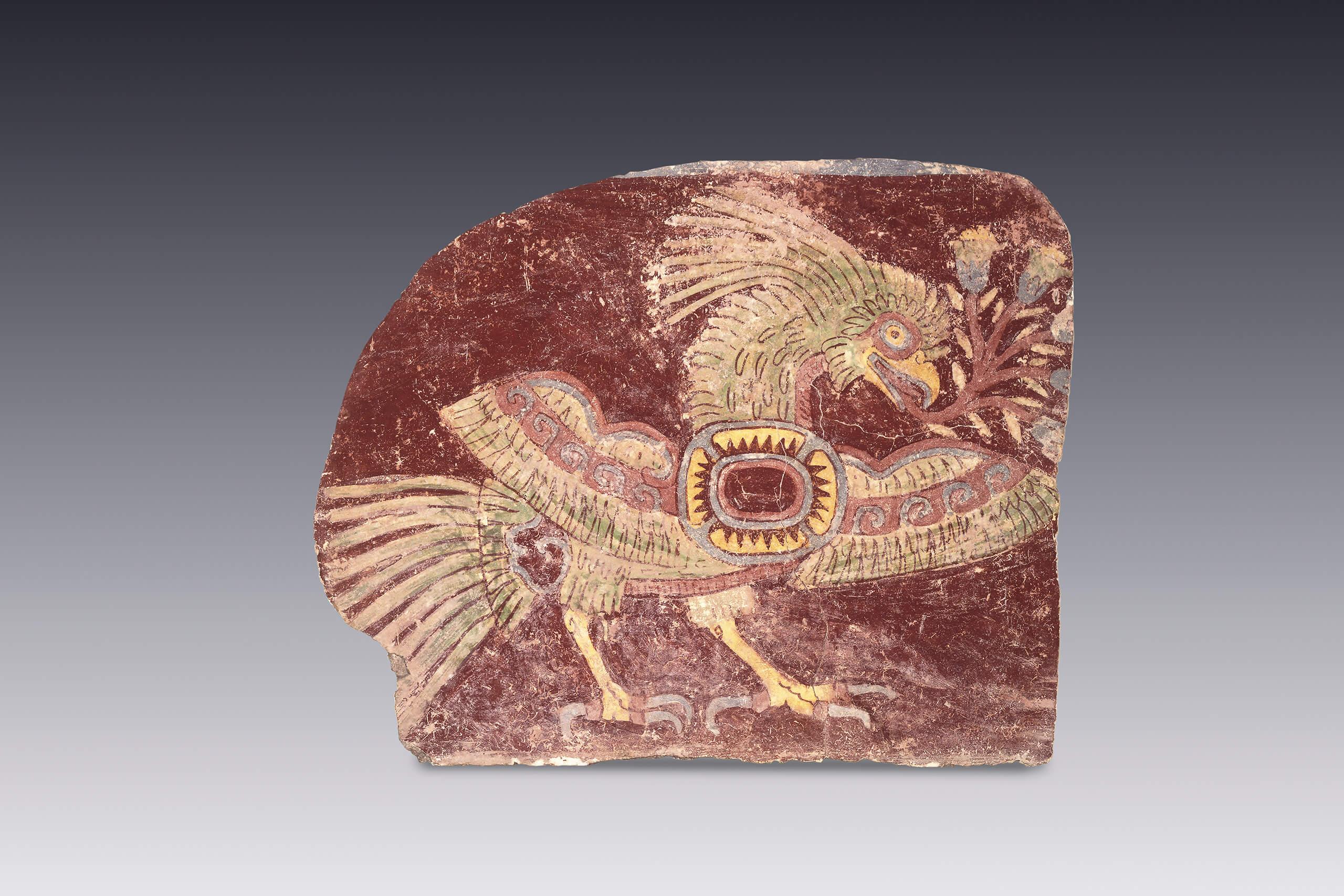 Quetzal alegrico fragmento de pintura mural  El Mxico