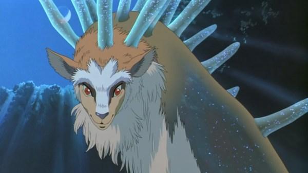 Life And Death Forest Spirit In Princess Mononoke