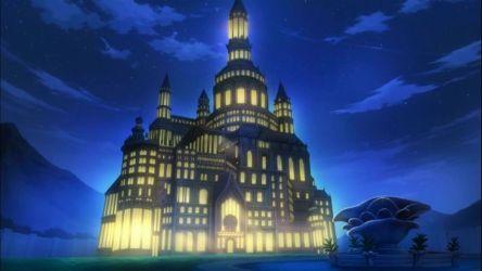 Night Anime Castle.