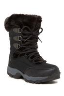 St. Moritz Lite 200 I Faux Fur Trim Boot - BLK-CHARCO