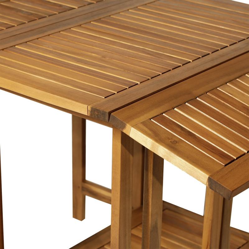 bois d acacia table pliante