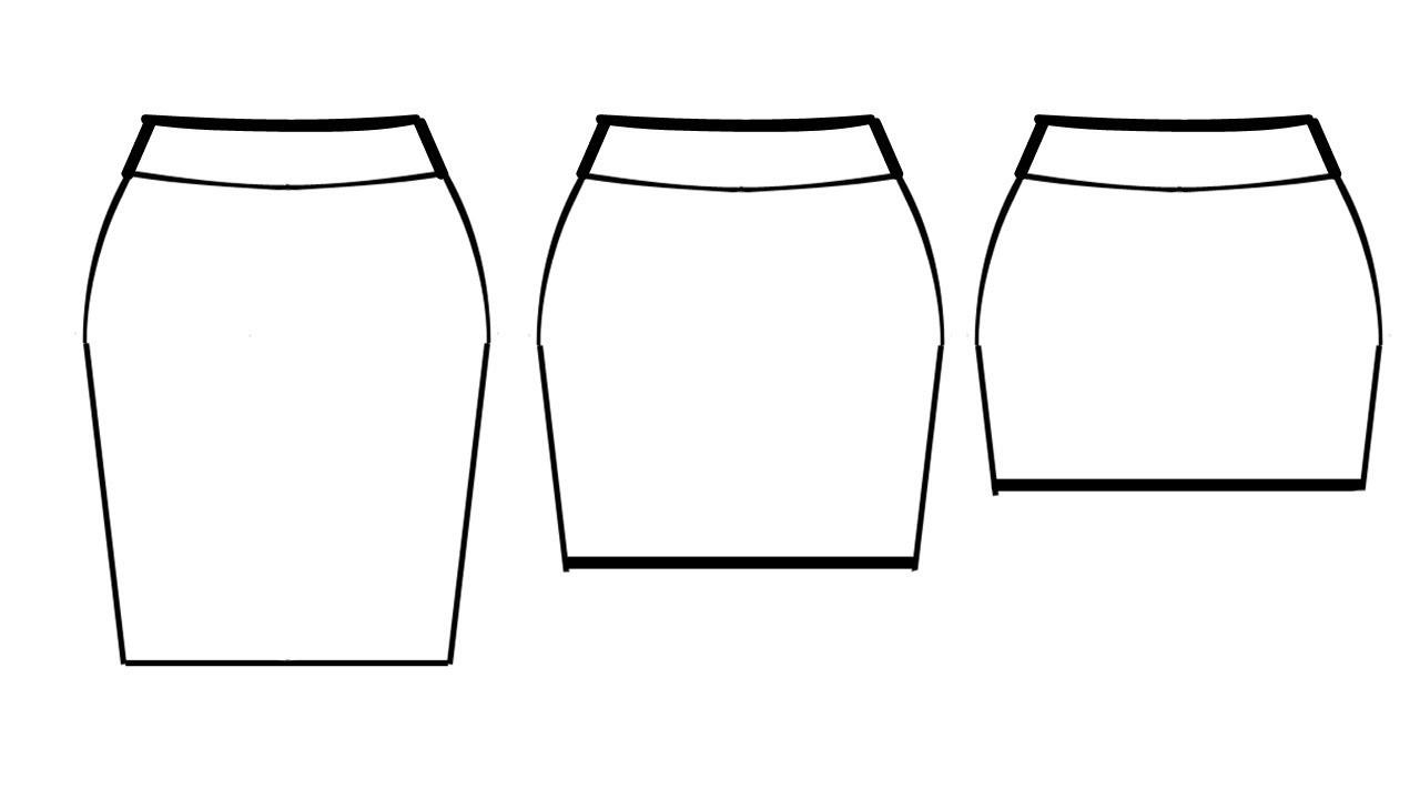 How To Pattern Pencil.Mini Skirt (Knit Fabric)