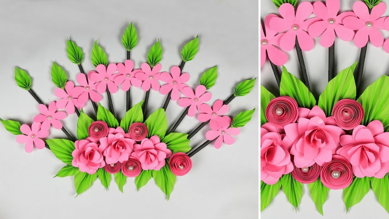 Wall Hanging Craft Ideas With Paper Flower  Arte Inspire