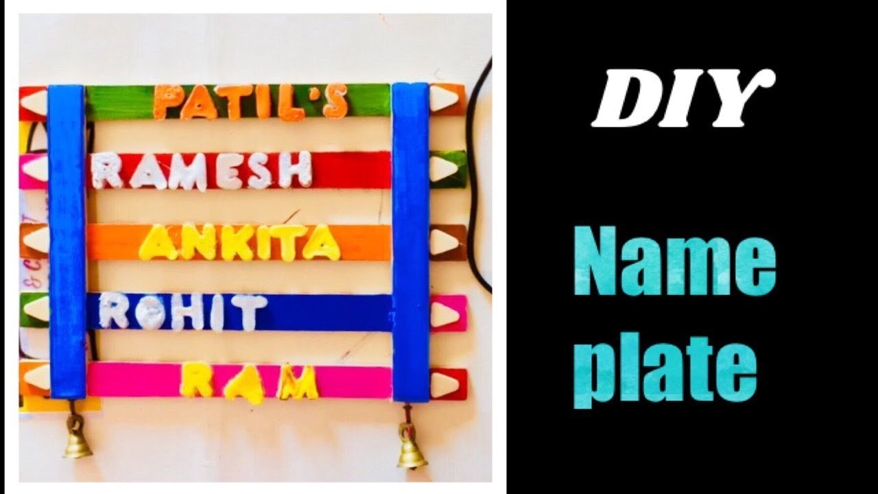 Easy To Diy Name Plate At Homeeasy Wooden Name Platebest