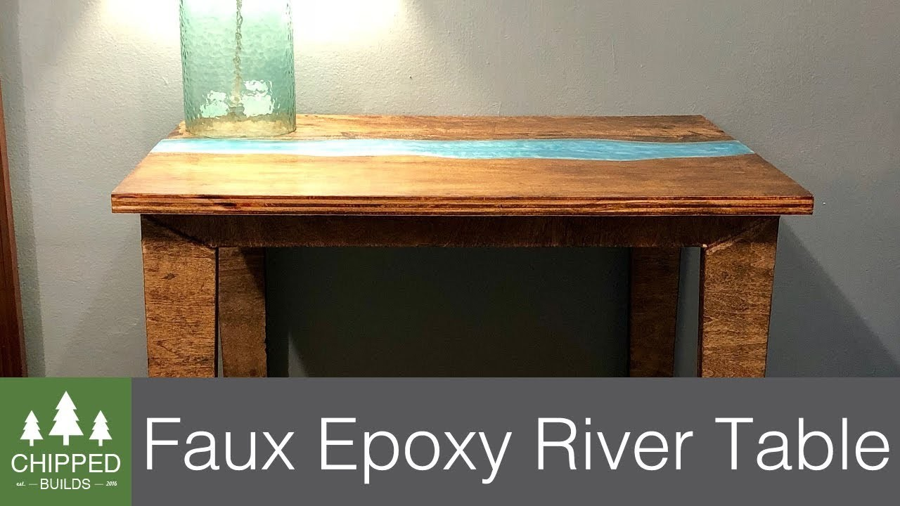 Faux Live Edge Epoxy River Table How To