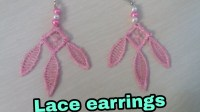 Diy lace earrings. how to make diy lace earrings at home ...