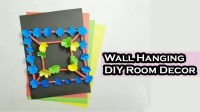 How to Make a Color Paper Flower Wall Hanging, Hand Made ...