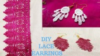 DIY Lace Earrings, How To Make Earrings From Lace, Best ...
