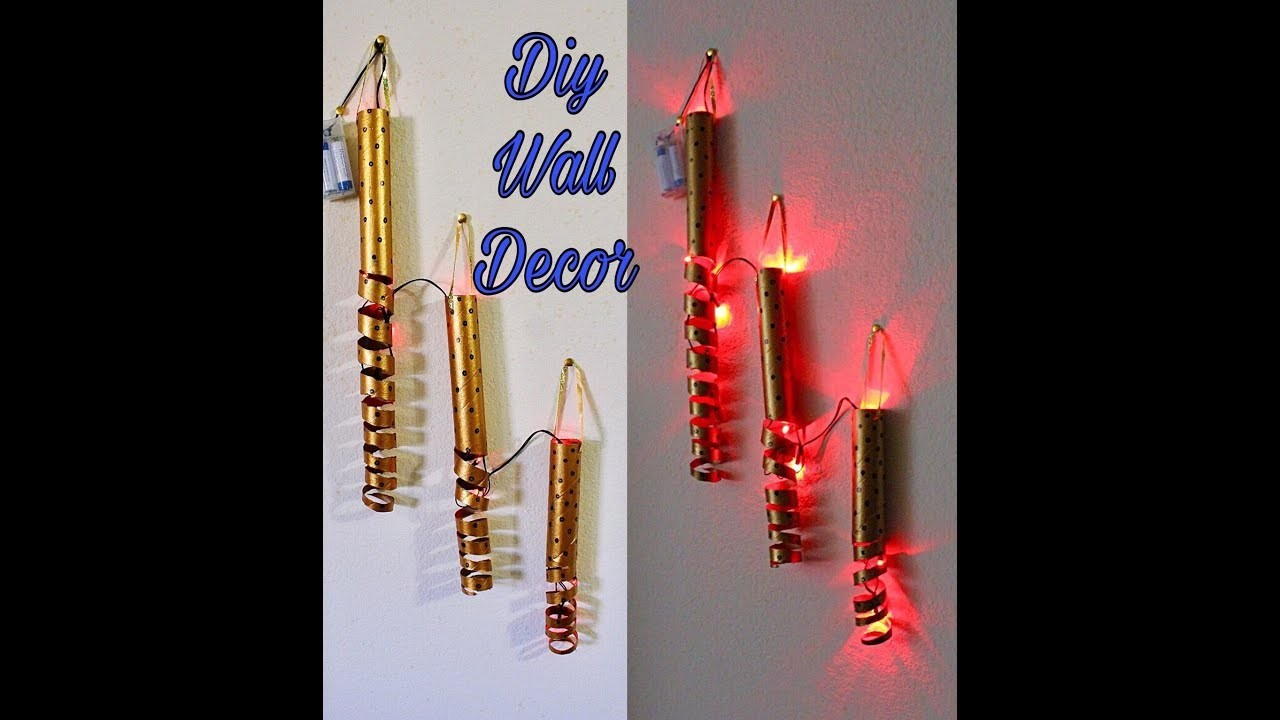 DIY wall hanging ideas. DIY lamp. Wall decor. DIY diwali