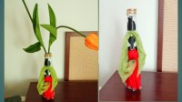 How to make home decor with empty sauce bottle. DIY glass