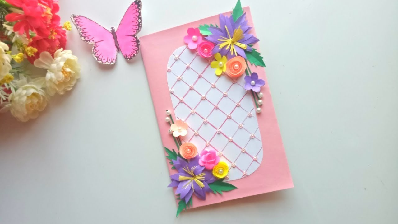 Beautiful Handmade Birthday Card Idea DIY Greeting Pop Up