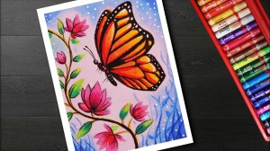 easy flower drawing draw butterfly scenery painting drawings pastel oil sketch garden paintingvalley