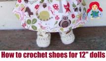 Crochet Doll Shoes 12 Sami Dolls