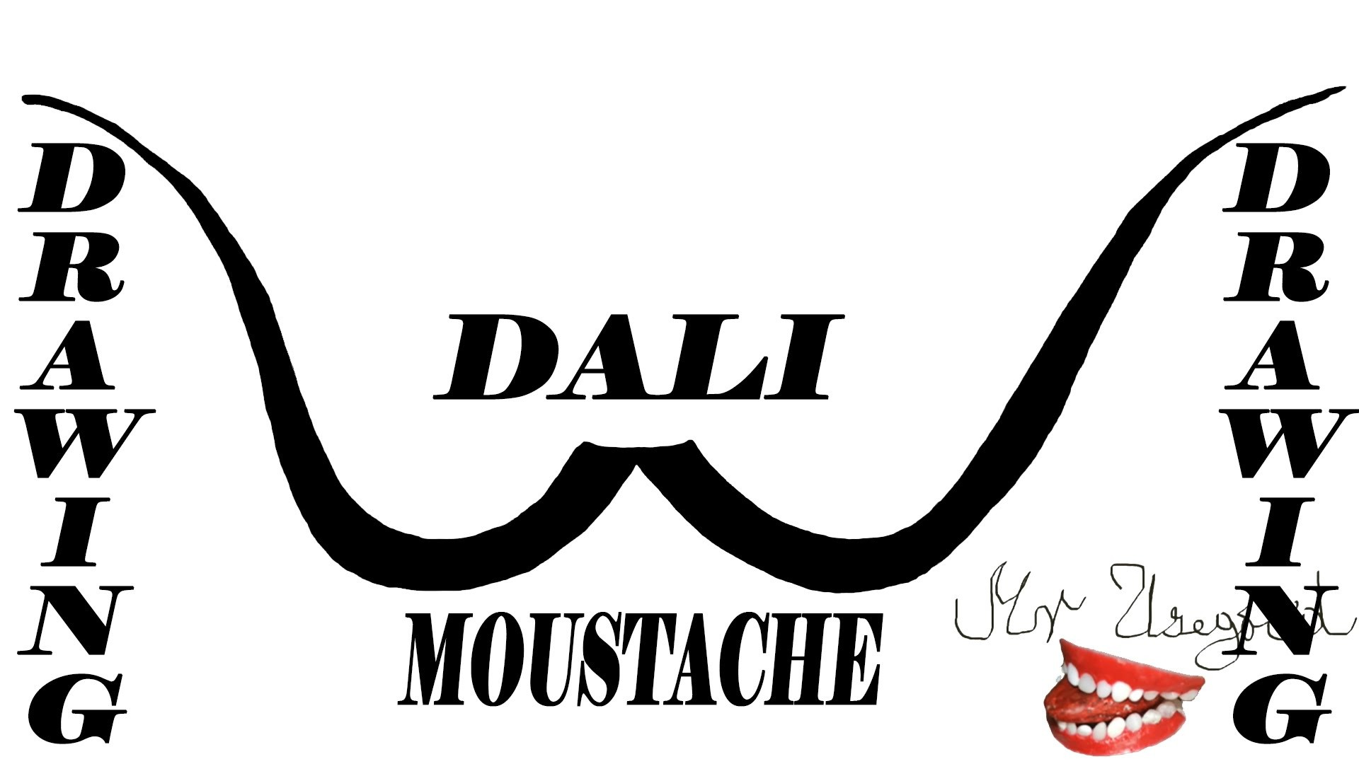 How To Draw Salvador Dali Mustache Step By Step Easy