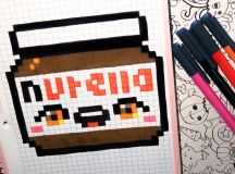 Handmade Pixel Art - How To Draw a Kawaii Nutella by Garbi ...