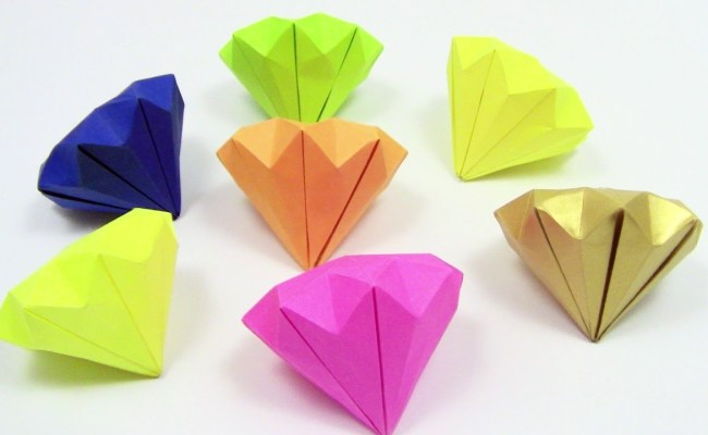 Origami Diamond Easy Simple Detailed Instruction