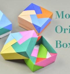3 easy modular origami boxes tutorial creative diy [ 1600 x 900 Pixel ]