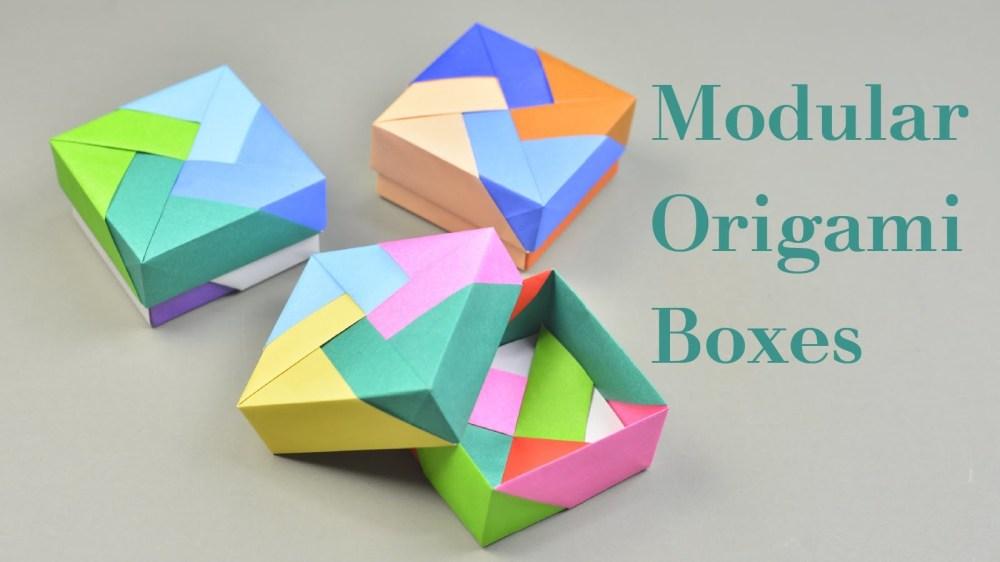 medium resolution of 3 easy modular origami boxes tutorial creative diy