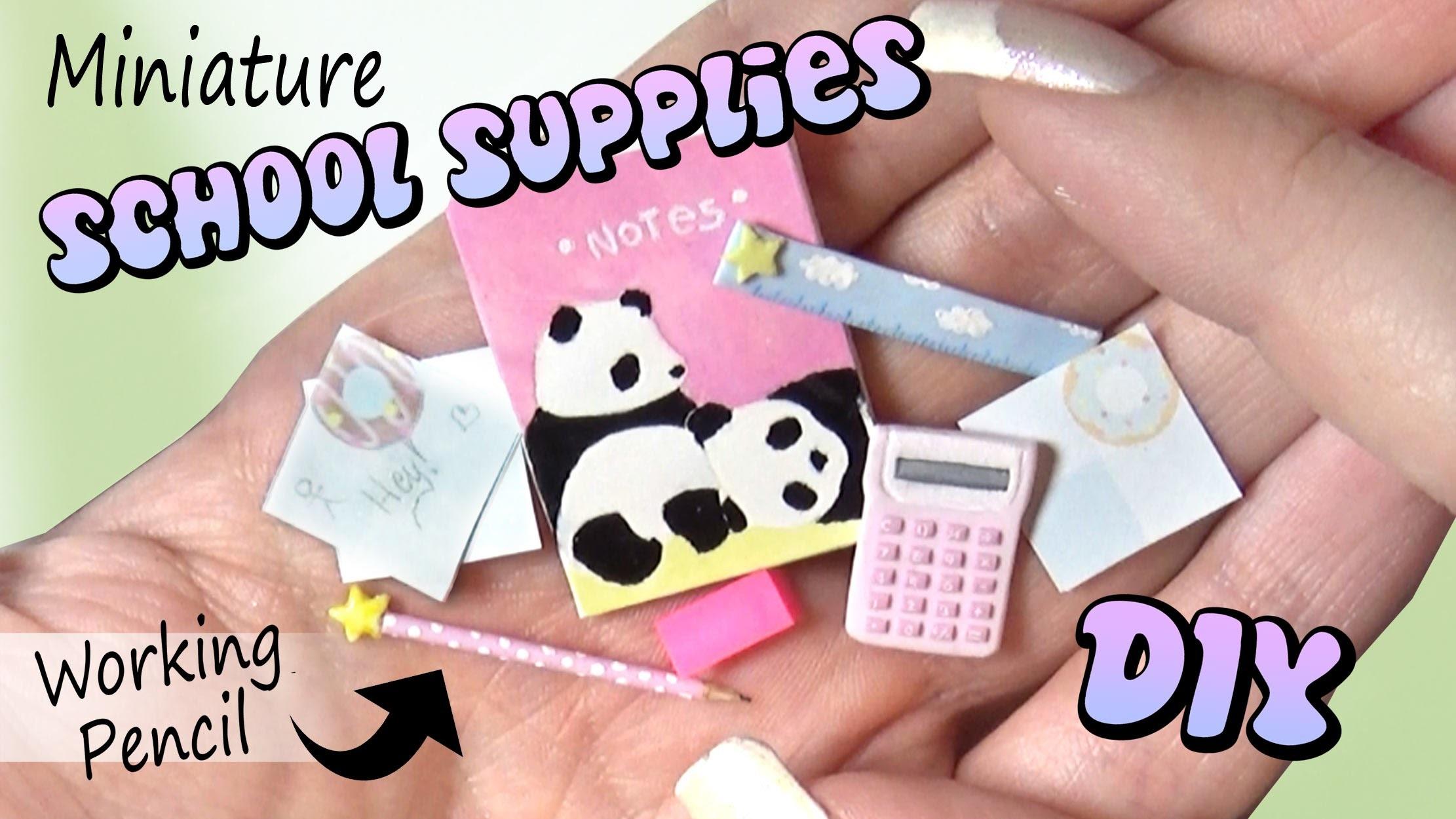 Easy Miniature School Supplies Diy Dolls Llhouse