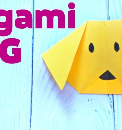 origami dog face animals easy tutorial 3d instructions origami diagrams for children for beginners [ 2666 x 1500 Pixel ]