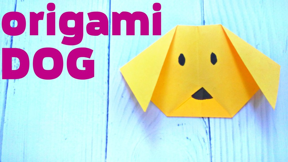 medium resolution of origami dog face animals easy tutorial 3d instructions origami diagrams for children for beginners