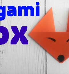 origami fox face easy tutorial 3d instructions origami diagrams for children for beginners [ 2666 x 1500 Pixel ]