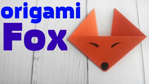 small resolution of origami fox face easy tutorial 3d instructions origami diagrams for children for beginners