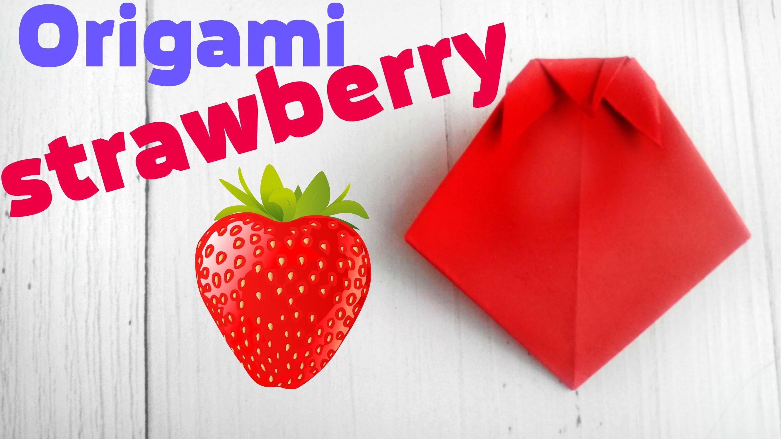 strawberry fruit diagram car spotlight wiring origami tutorial easy instructions 3d scheme