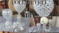 DIY DOLLAR TREE BLING CANDLE HOLDERS 2017, PETALISBLESS