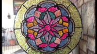DIY HOME DECORATION:STAINED GLASS easy and cheap $$.Vitral ...