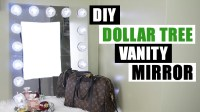 DOLLAR TREE DIY VANITY MIRROR, Large DIY Vanity Mirror ...