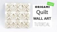 Easy Origami Quilt Wall Art Tutorial  DIY  Paper Kawaii ...