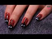 diy lady bug nail art