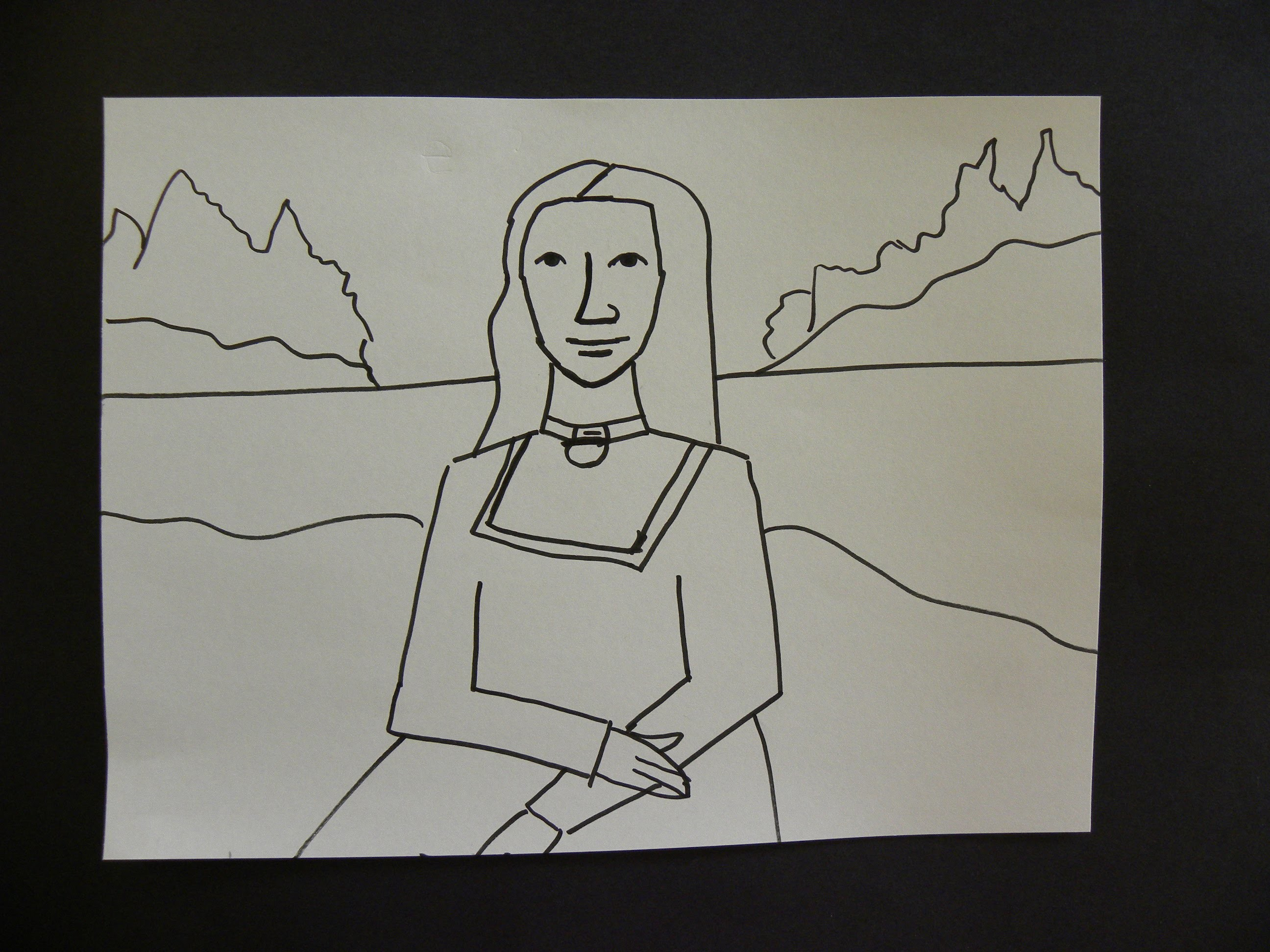 Kids Can Draw Easy Mona Lisa For Young Kids