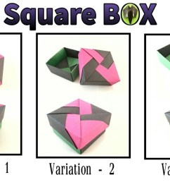 square gift box with lid 3 variations by tomoko fuse diy modular origami tutorial 817 [ 1280 x 720 Pixel ]