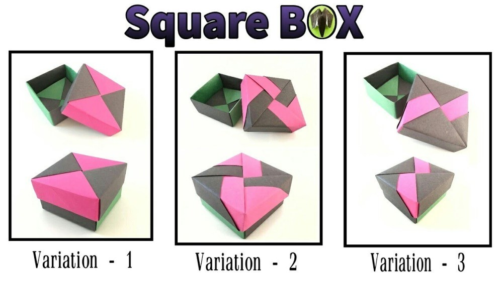 medium resolution of square gift box with lid 3 variations by tomoko fuse diy modular origami tutorial 817