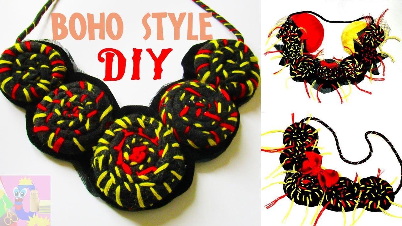 DIY Boho Style Necklace Tutorial, How To Make a Shabby
