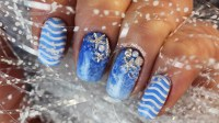 Easy Sea Beach Nail Art Design DIY, Sea Nails Tutorial