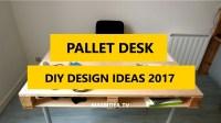 50+ Awesome DIY Pallet Desk Ideas Designs 2017