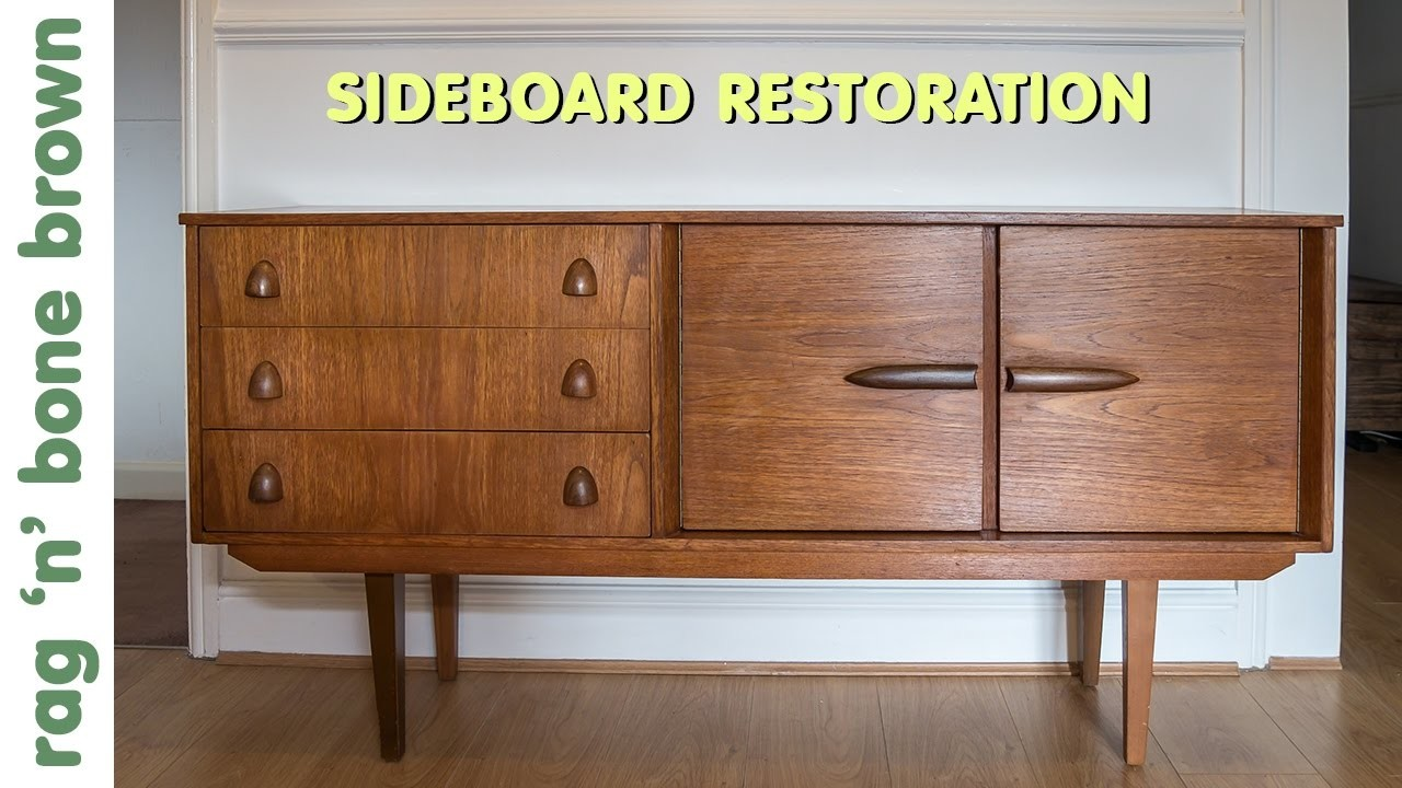 Restoring And Repairing A Mid Century Modern Style Sideboard