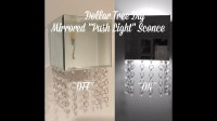 Dollar Tree Diy Mirrored Crystal Push Light Sconce.