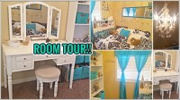 ROOM TOUR 2017 GOLD BLACK WHITE TEAL, TWEEN DAUGHTERS ...