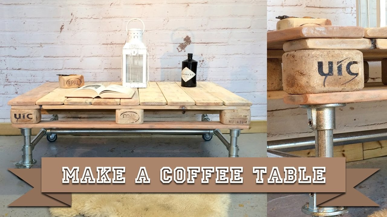 Easy to Build Coffee Table made with Kee Klamp Scaffold