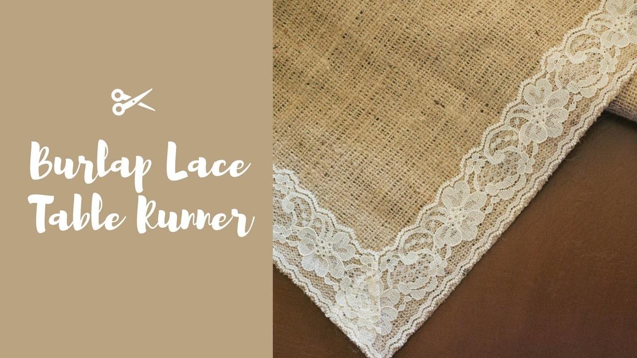 DIY, Burlap Lace Table Runner