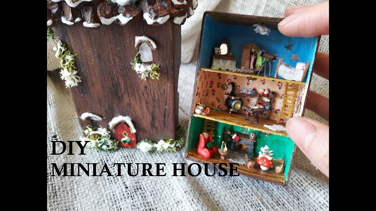 Doll DIY CUTE MINIATURE BOX DOLLHOUSE CHRISTMAS SCENE