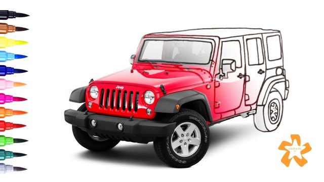 Cars - How to color Jeep Wrangler - Coloring Pages For Children