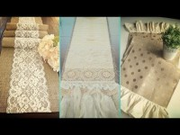 DIY Shabby chic style Burlap Table Runners & Placemats ...