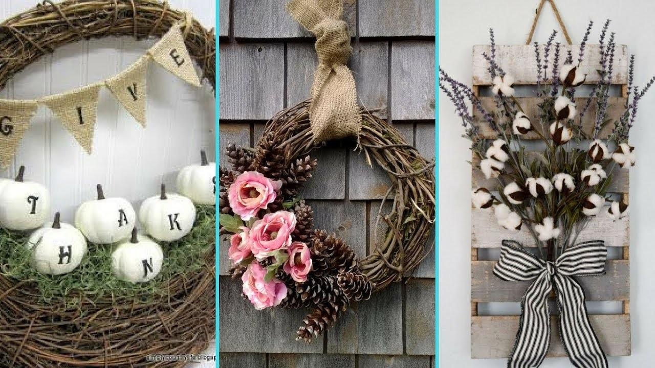 DIY Shabby Chic style Fall Wreath decor Ideas