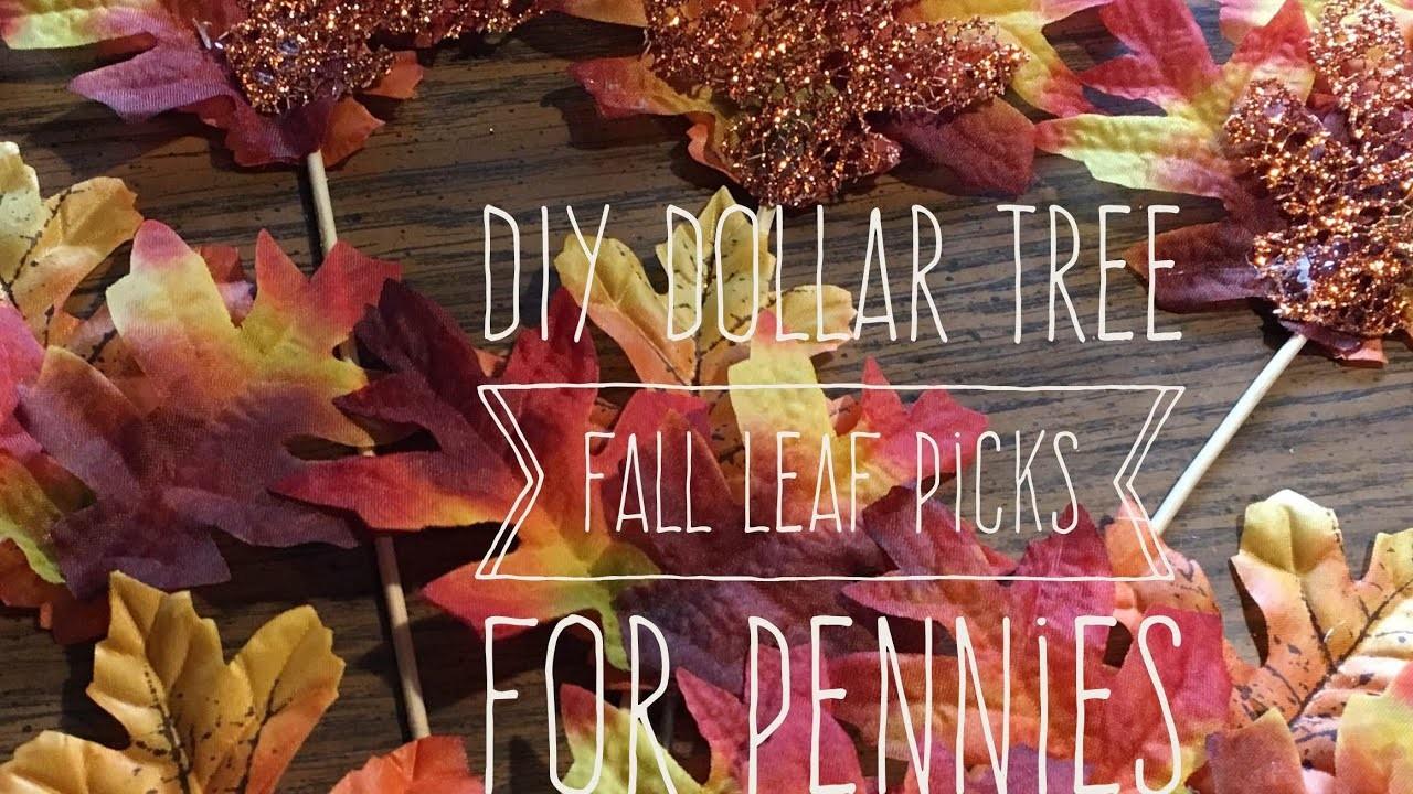 DIY Dollar Tree Fall Leaf Picks For Pennies 2017