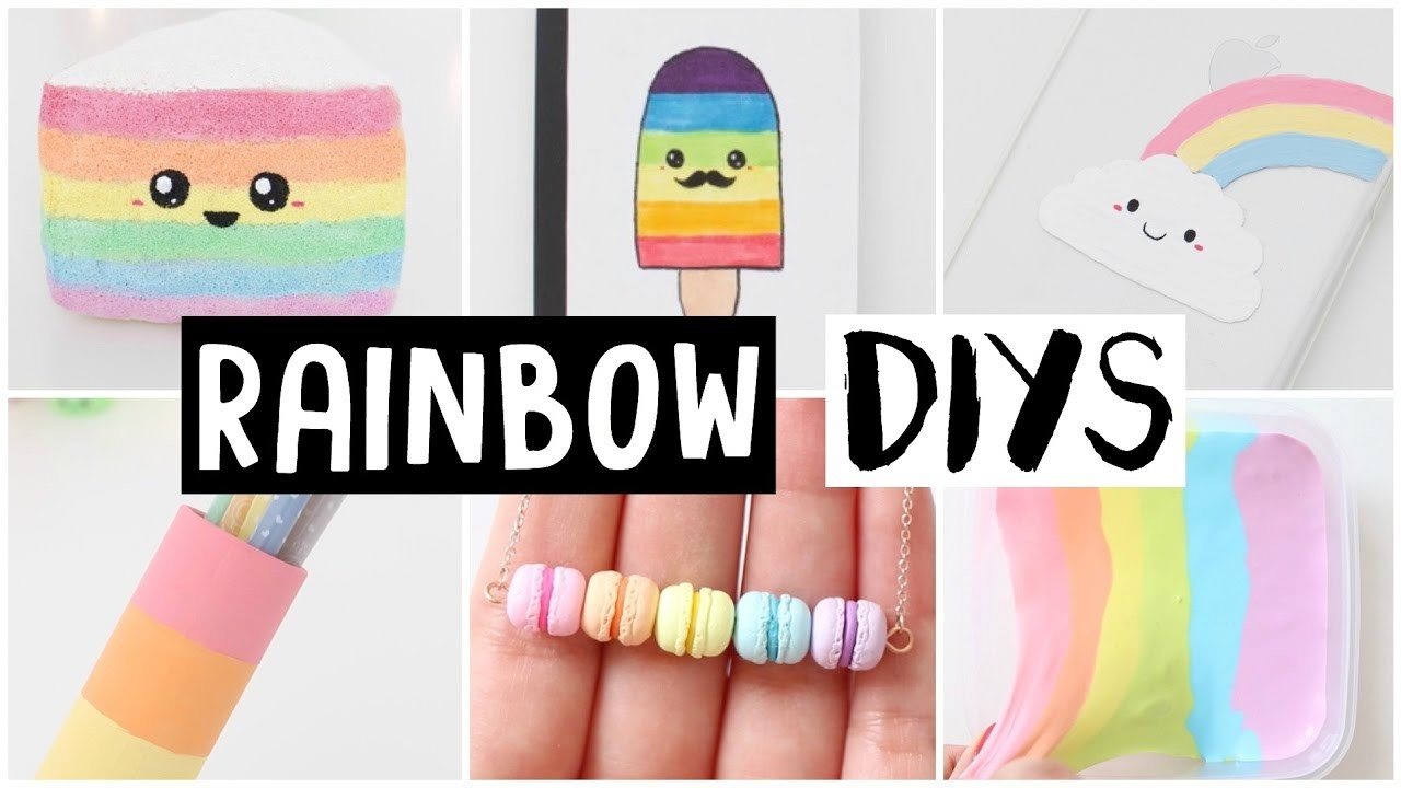 6 Amazing Rainbow Diys! Easy & Cute Ideas!, My Crafts And